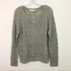NWT LOFT   Gray Mohair Blend Soft Sweater Sz. M
